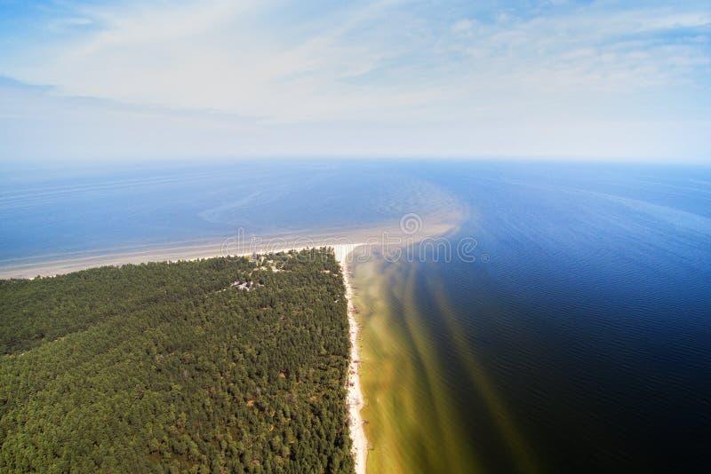 Kolka udde, baltiskt hav, Lettland arkivfoton