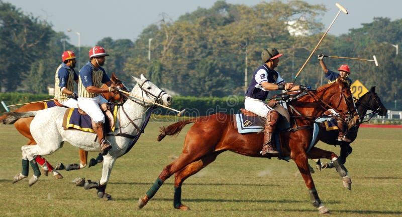 kolkata Индии играя поло стоковое изображение rf