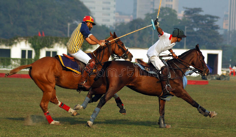 kolkata Индии играя поло стоковая фотография rf