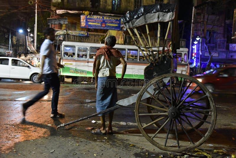 Kolkata bij Nacht stock foto