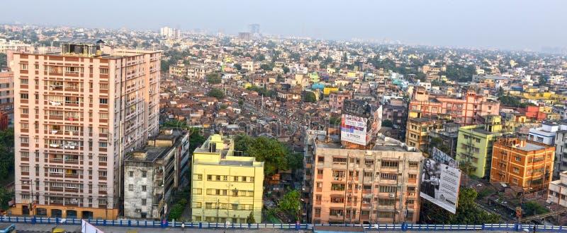 Kolkata City. A top view shot of Kolkata city during sunset stock photography