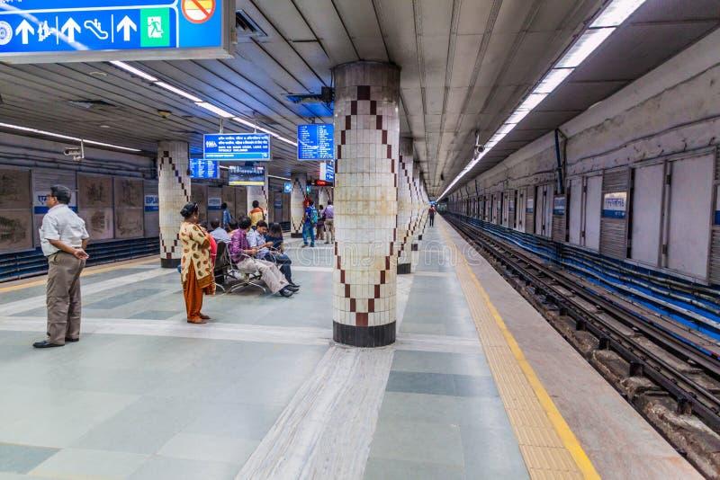 KOLKATA, INDE - 31 OCTOBRE 2016 : Vue d'esplanade de station de métro dans Kolkata, Ind image stock