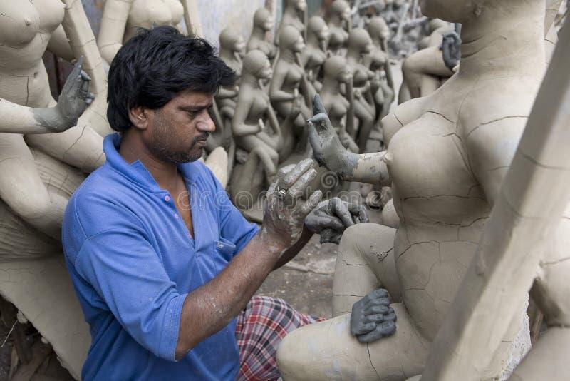 Kolkata. India, Kolkata the Durga Puja celebration preparations stock photo