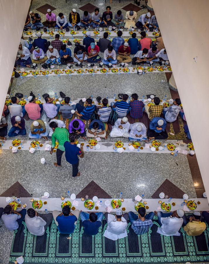 KOLKATA, INDIA - MEI 24, 2019: Dit is Iftar-partij royalty-vrije stock fotografie