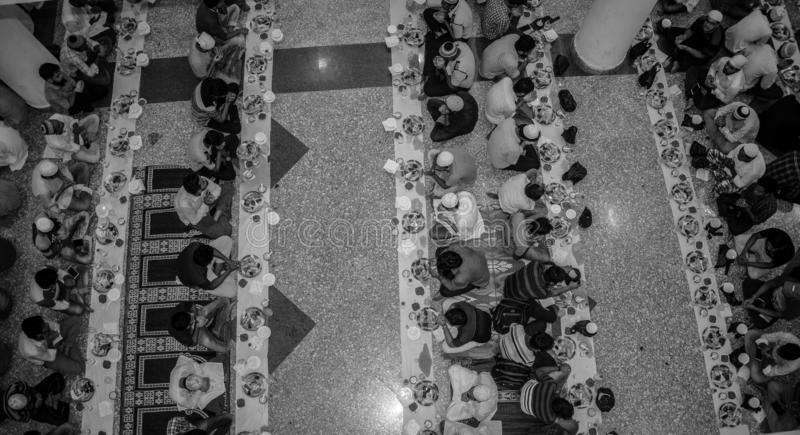 KOLKATA, INDIA - MEI 24, 2019: Dit is Iftar-partij royalty-vrije stock afbeeldingen