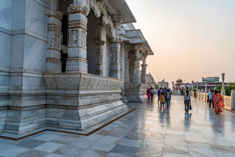 KOLKATA, INDIA - NOVEMBER 5, 2017: De Hindoese tempel van Birlamandir in Kolkata, India royalty-vrije stock foto