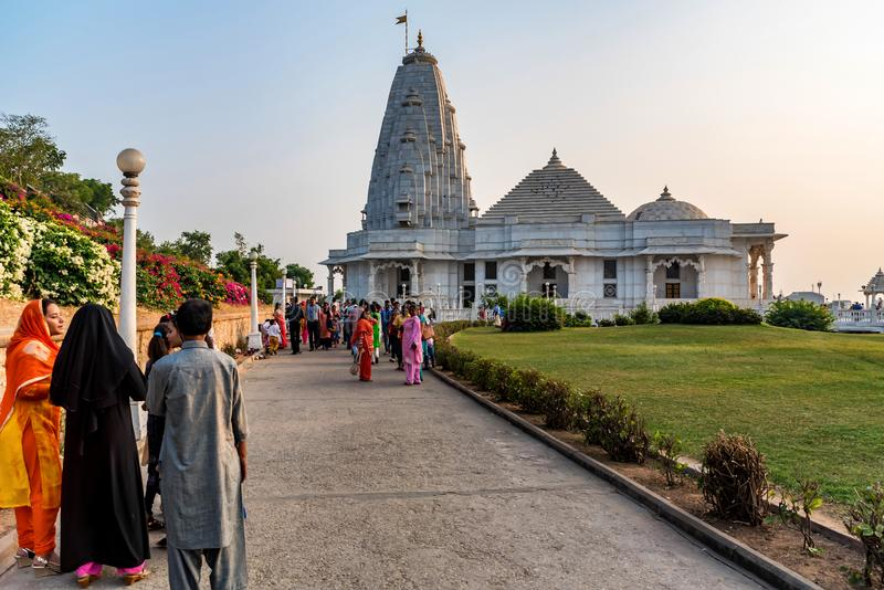 KOLKATA, INDIA - NOVEMBER 5, 2017: De Hindoese tempel van Birlamandir in Kolkata, India stock fotografie
