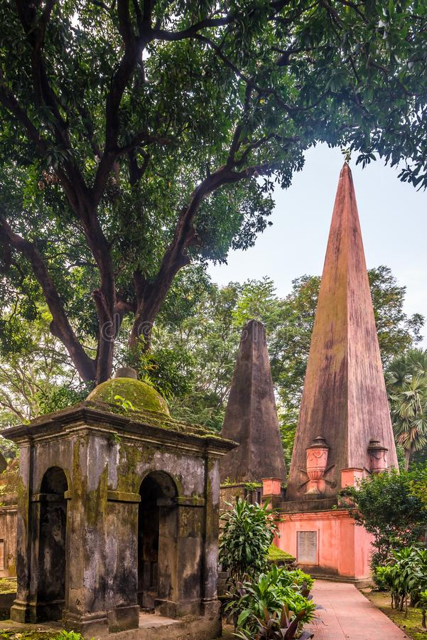 Tombs in South Park Street Cemetery in Kolkata - West Bengal, India royalty free stock photo