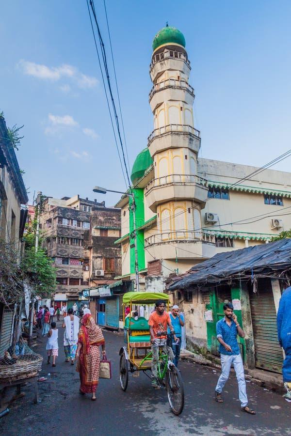 KOLKATA, INDIA - OKTOBER 30, 2016: Kleine moskee in het centrum van Kolkata, Ind. royalty-vrije stock afbeeldingen