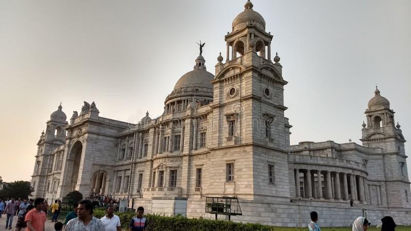Kolkata memoriyal Victoria van India royalty-vrije stock foto's