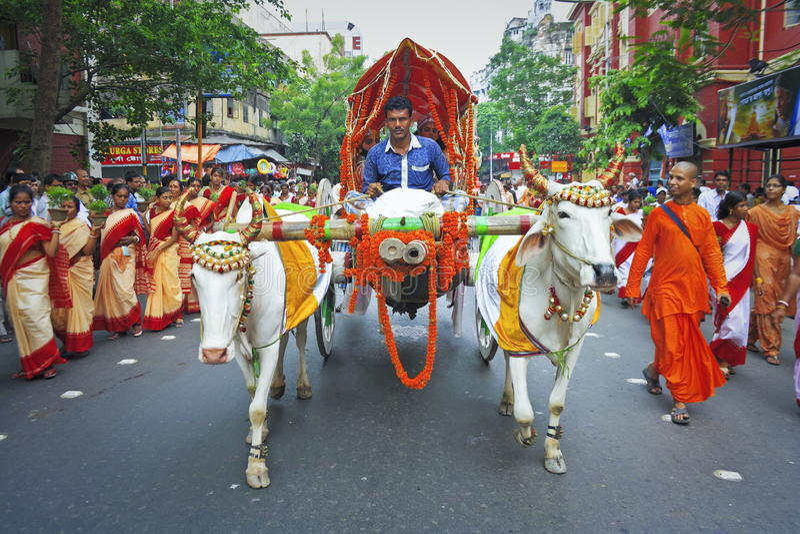 Kolkata Rathayatra stock image