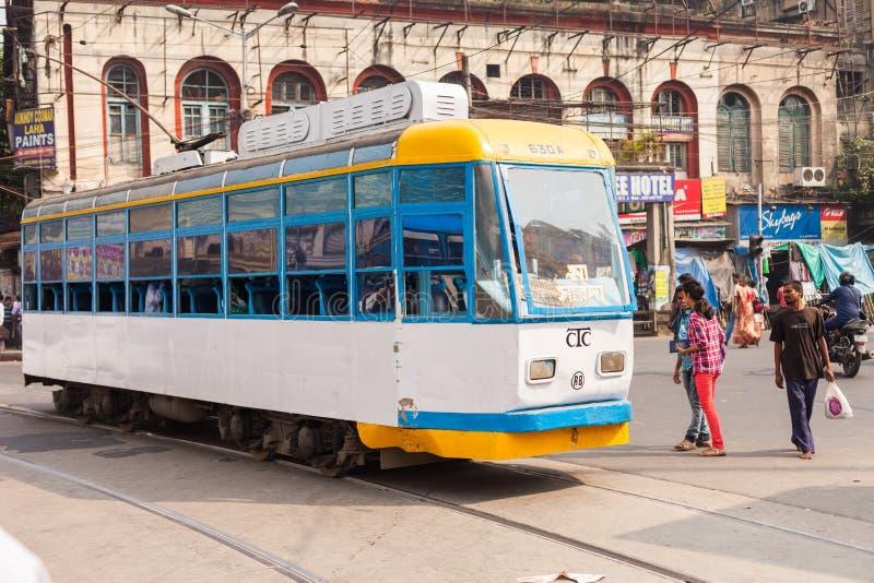 Kolkata tramwaj fotografia stock