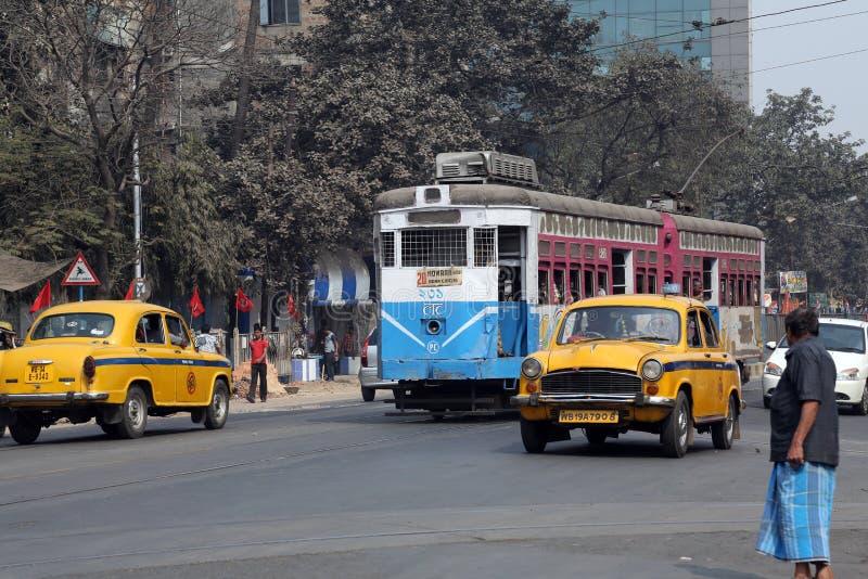Kolkata tramwaj fotografia royalty free