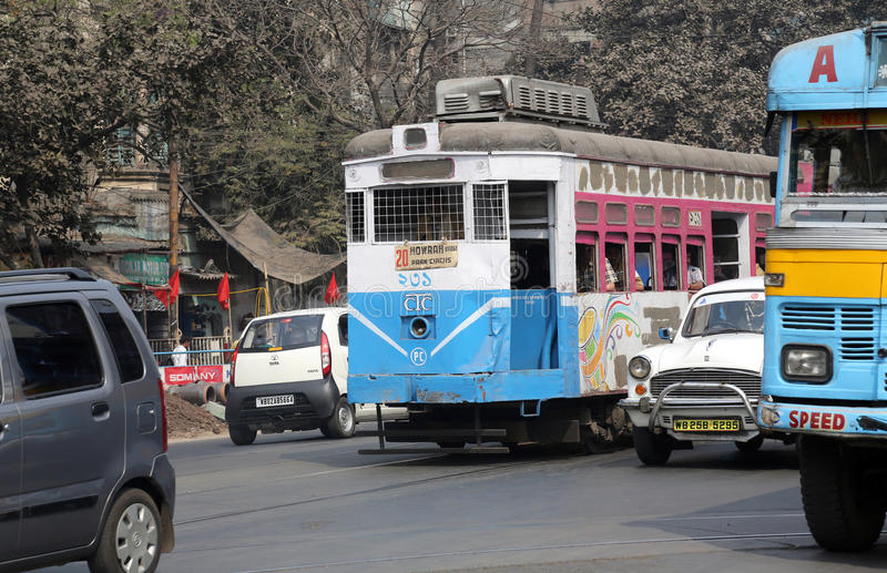 Kolkata tramwaj zdjęcie stock