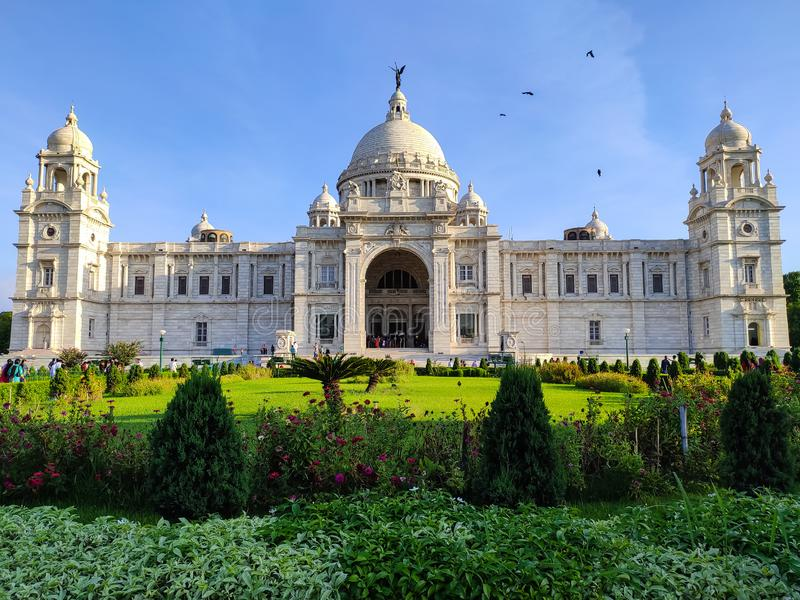 Kolkata,The Victoria Memorial It is dedicated to the memory of Queen Victoria and is now a museum and tourist destination stock image