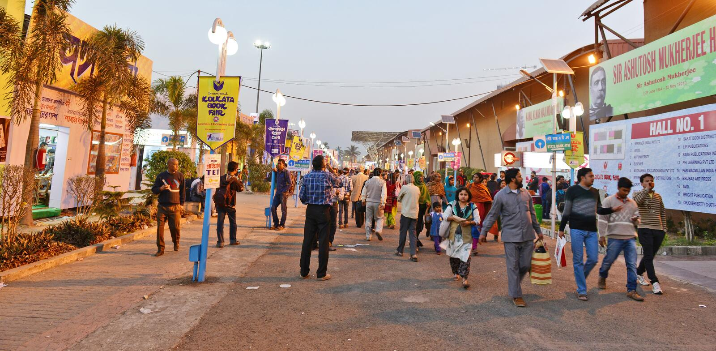 Kolkataboekenbeurs 2014 stock foto's
