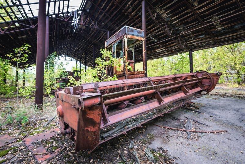 Kolkhoz in de Streek van Tchernobyl stock afbeeldingen