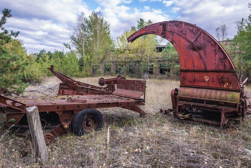 Kolkhoz na zona de Chernobyl fotos de stock