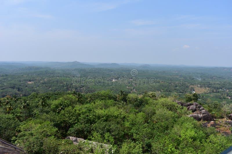 Kollam, Κεράλα, IndiAThe τέσσερα Hill και Green Valley στοκ εικόνα με δικαίωμα ελεύθερης χρήσης