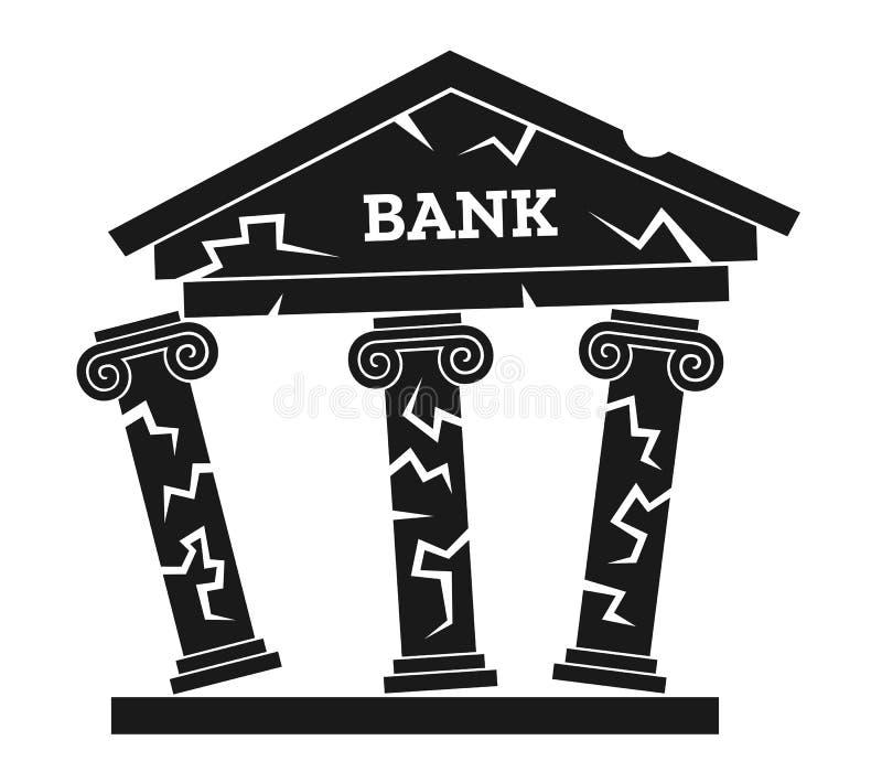 Kollaps av banken stock illustrationer