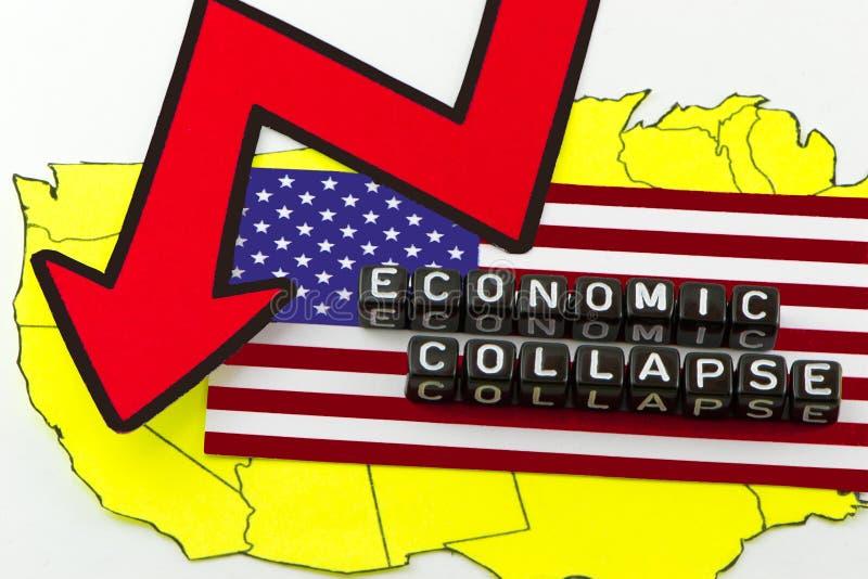 Kollapsen av USA-ekonomin royaltyfria foton