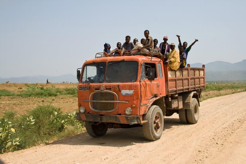 Kollektivtrafik i Afrika arkivbilder