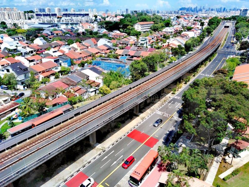 Kollektivtrafik i Singapore royaltyfria foton