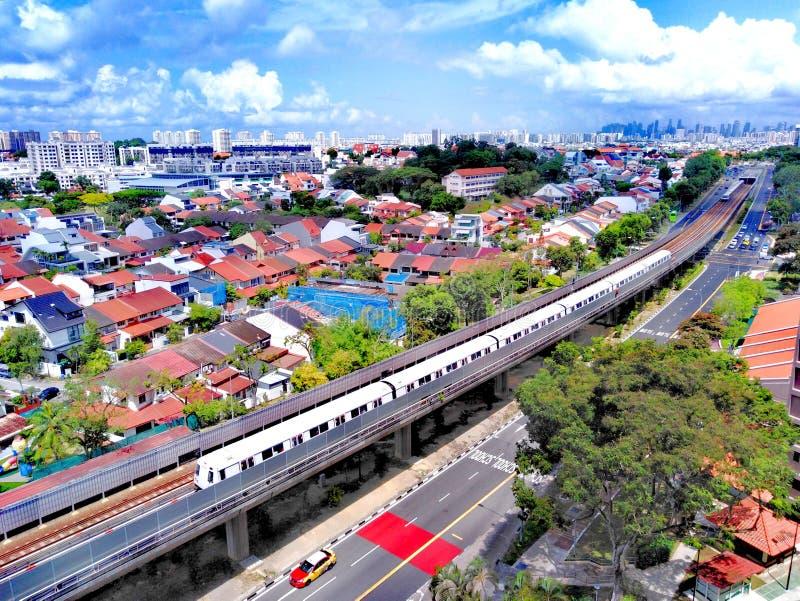 Kollektivtrafik i Singapore arkivfoto