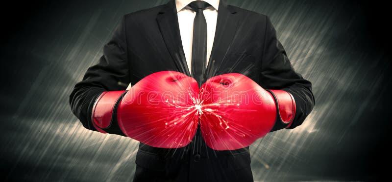 Kollidera för boxninghandskar royaltyfria foton
