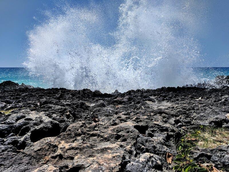 kollidera vatten arkivfoto