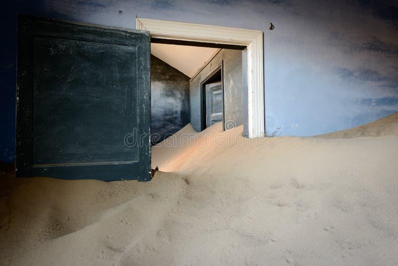 Kolmanskop piaska dom zdjęcie stock