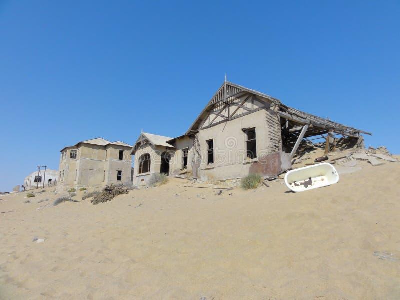 Kolmanskopspookstad, Namibië, stock afbeelding