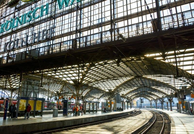 Koln Hauptbahnhof, Colonia, Germania fotografia stock libera da diritti