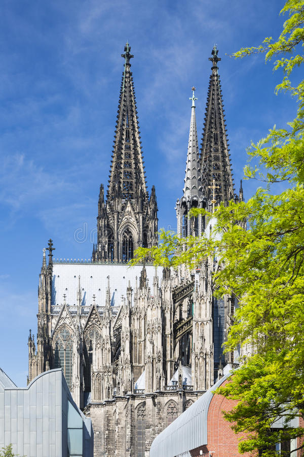 Kolońska katedra Góruje, Niemcy zdjęcie royalty free