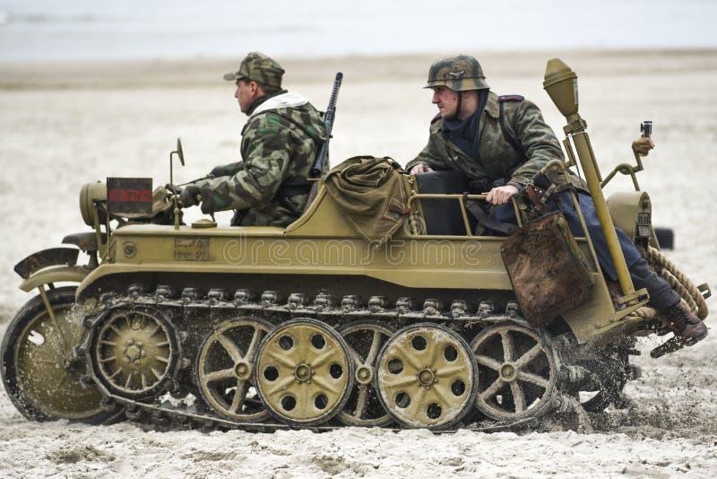 Kolobrzeg, Pologne, le 17 mars 2019 : Soldats allemands, nazis pendant la reconstruction de la bataille pour Kolobrzeg photos libres de droits