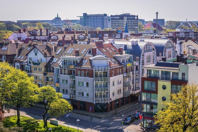Kolobrzeg in Polonia fotografia stock libera da diritti