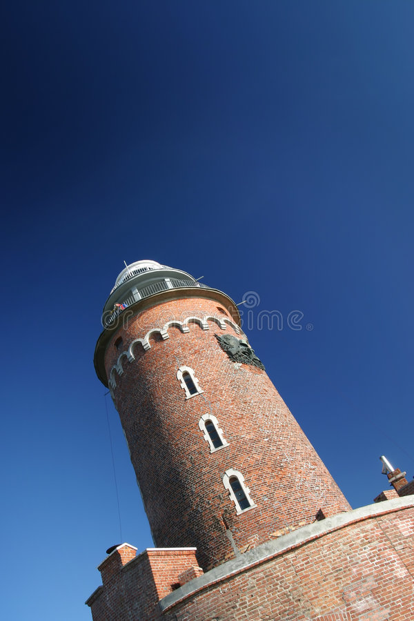 Kolobrzeg's Lighthouse stock image