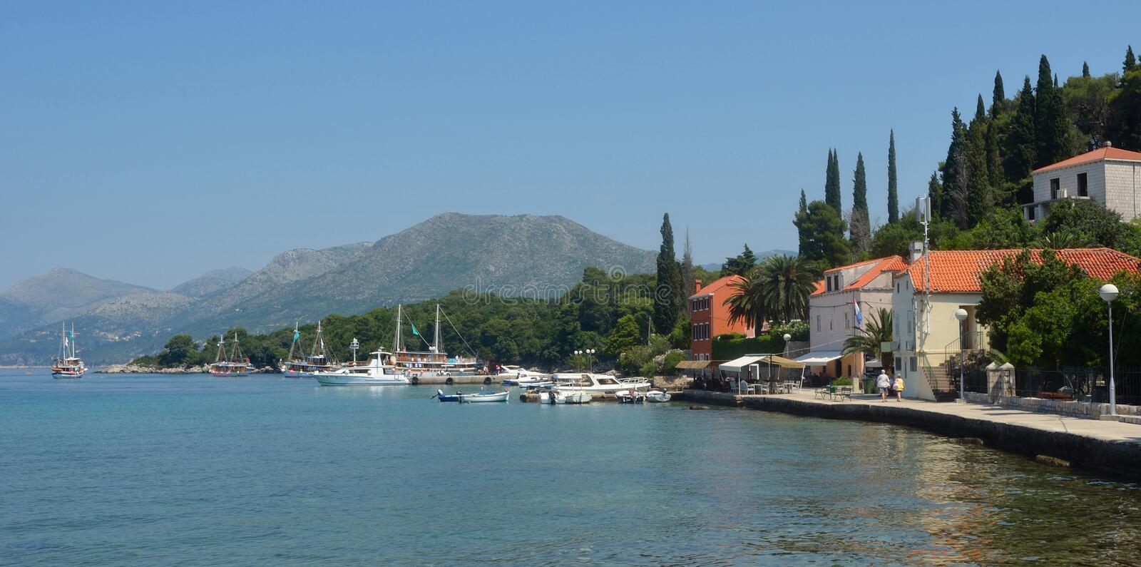 Download Kolocep Island stock image. Image of village, adriatic - 34358961