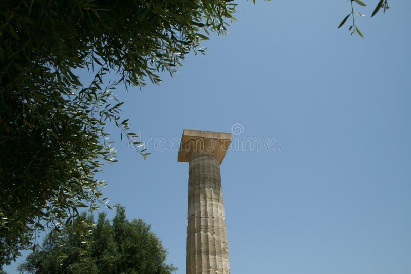 Kolom in Olympia stock fotografie