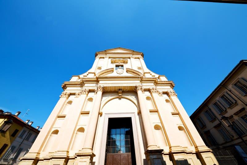 kolom oude architectuur in de godsdienst en het zonlicht van Italië royalty-vrije stock foto's