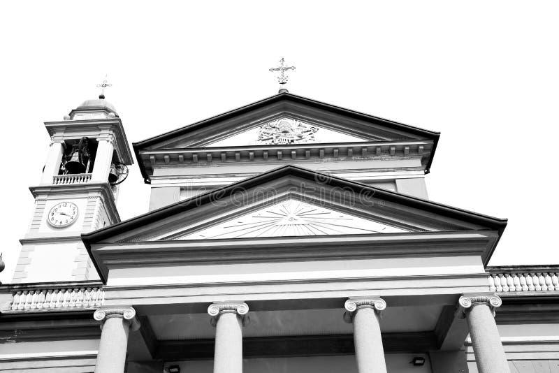 kolom oude architectuur in de godsdienst van Italië Europa Milaan en royalty-vrije stock fotografie