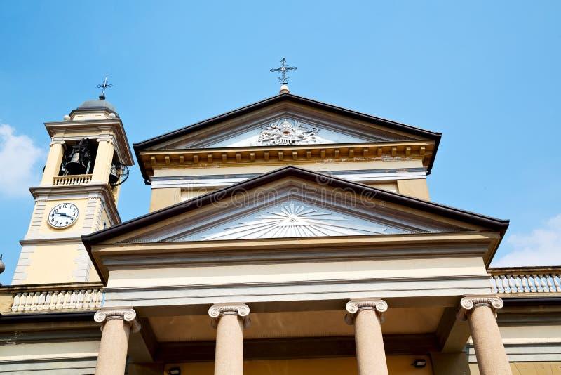 kolom oude architectuur in Italië en stock afbeelding