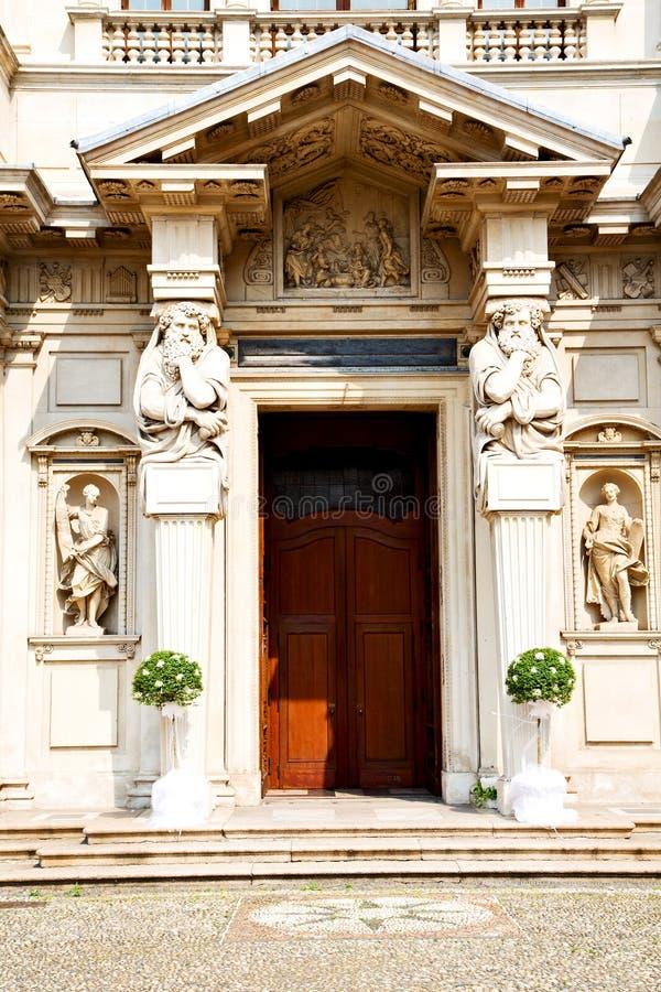 kolom oude architectuur in Italië Milaan stock afbeelding