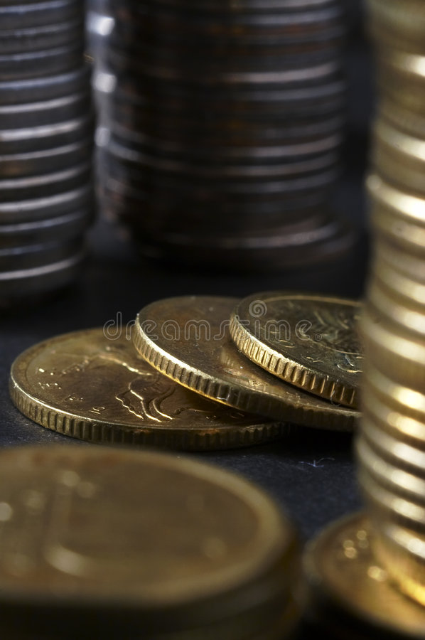 Kolom van geld royalty-vrije stock afbeeldingen