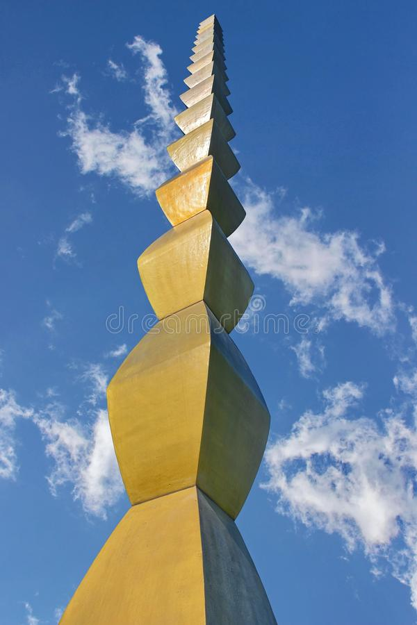 Kolom van Oneindig door Constantin Brancusi royalty-vrije stock fotografie
