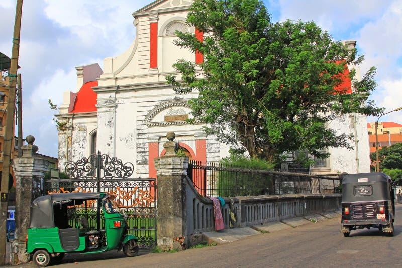 Kolombo holendera Reformowany kościół, Sri Lanka zdjęcie stock