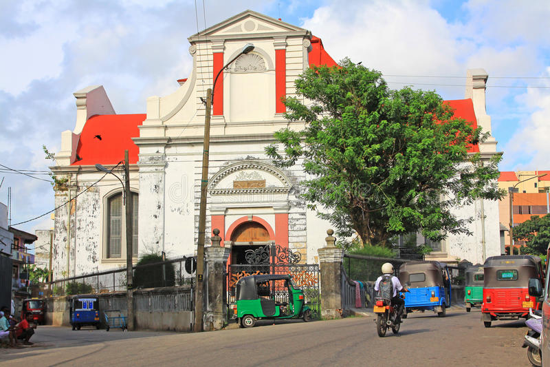 Kolombo holendera Reformowany kościół, Sri Lanka obrazy stock