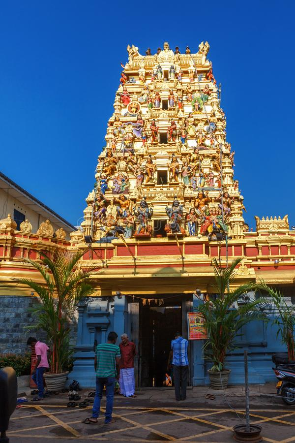 Kolombo, Sri Lanka - 11 2017 Luty: Wierza Hinduska świątynia Kovil w Kolombo, Sri Lanka fotografia royalty free