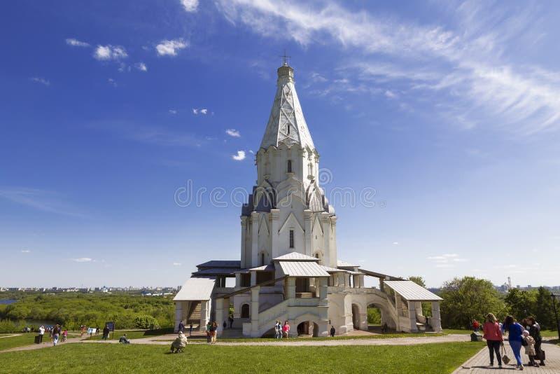 Kolomenskoe dans une journée de printemps de dimanche Église de l'ascension Moscou, photo stock