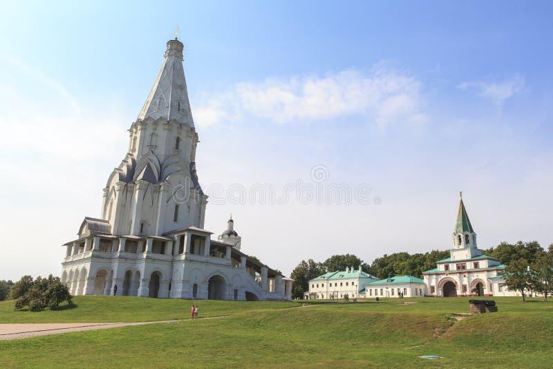 Kolomenskoe kyrka i Moskva royaltyfria foton
